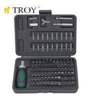 Комплект тресчота ръкохватка с накрайници TROY T 22309, 101 части