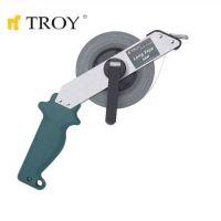 Ролетка с алуминиево тяло TROY T 23153 / 30 метра, 13×0.18 милиметра /
