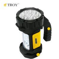 Удароустойчив акумулаторен ръчен фенер и лампа TROY T 28051 / 15 + 12 броя LED /