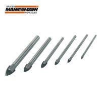 Комплект свредла за стъкло Mannesmann M 54806 / Ф 3, 4, 5, 6, 8, 10 мм, 6 броя /