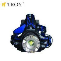 Акумулаторен фенер за глава TROY T 28205  / LED диод 1x5W /