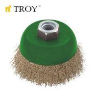 Телена четка тип камбана TROY T 27710-100 / 100 милиметра /
