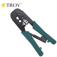 Клещи комбинирани кримпващи TROY T 24008 / RJ 11/12 - 9.65  мм., RJ 45 - 11.68 мм. /