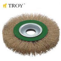Телени четки за ъглошлайф тип кръгла TROY T 27704-150 / 150 милиметра /