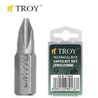Накрайници за отвертка TROY T 22200 / PH0x25 милиметра /