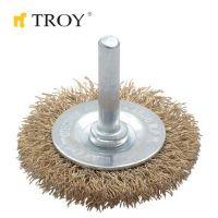 Телени четки тип кръгла TROY T 27703-50 / 50 милиметра /
