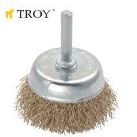 Телени четки тип камбана TROY T 27702-75 / 75 милиметра /