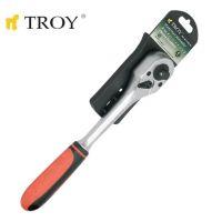 Тресчотна ръкохватка 3 размера в 1 TROY T 26130 / 1/2''-1/4''-3/8'' /