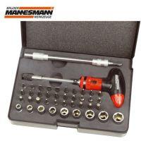 Комплект ръкохватка с вложки и битове Mannesmann M 29842 / 42бр. /