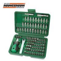 Комплект тресчотка с накрайници за отвертка Mannesmann M 29899  / 99 части /