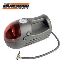 Компресор за гуми с лампа и манометър Mannesmann M 097-T / 12 V, 6bar. /