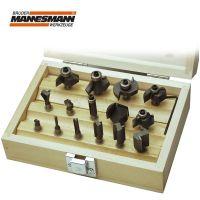 Комплект фрезни накрайници за дърво Mannesmann M 54515 / Ф 6 мм, 15 бр. /
