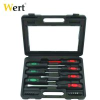 Комплект отвертки и накрайници Wert 21 части