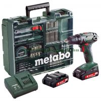 АКУМУЛАТОРНА ОТВЕРТКА METABO BS 18 SET / 18V, 2.0 Ah /