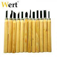Комплект дърводелски длета Wert 12 части 135мм