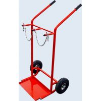 Ръчна транспортна количка за две газови бутилки Dinis GHTDC-300-PL / 492x280 mm , 300 kg / с колела Blickle