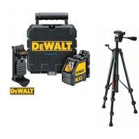 Лазерен нивелир самохоризонтиращ с 2 лъча DeWALT DW088K + Статив BOSCH BT 150 Professional / 55 - 157 см. /