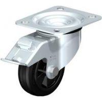 Колела със стандартна гума от плътен каучук и гумена работна повърхнина Blickle LE-VPP 100R-FI / Ø 100 mm /