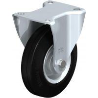 Колела със стандартна гума от плътен каучук и гумена работна повърхнина Blickle BE-VE 125R / Ø 125 mm /