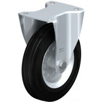 Колела със стандартна гума от плътен каучук и гумена работна повърхнина Blickle B-VE 200R / Ø 200 mm /