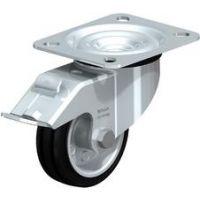 Колела със стандартна гума от плътен каучук и гумена работна повърхнина Blickle LE-VE 80R-FI / Ø 80 mm /