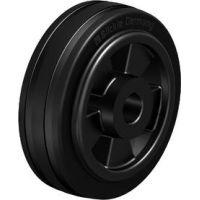 Колела със стандартна гума от плътен каучук и гумена работна повърхнина Blickle VPP 80/12R / Ø 80 mm /