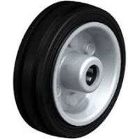 Колела със стандартна гума от плътен каучук и гумена работна повърхнина Blickle VE 80/12R / Ø 80 mm /