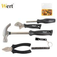 Комплект инструменти в пластмасово куфарче Wert W 2191, 17 части