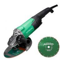 Ъглошлайф  HiKOKI  Hitachi G23SW2 / 2200W / ф 230 мм + диамантен диск