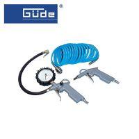 Комплект пневматични инструменти GÜDE 84091, 3 части, 1/4'', 5 метра