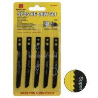 Комплект ножове за зеге VAL import / 5 бр. 85/60 мм. / за дърво