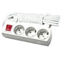 Електрически разклонител VAL import с 3 гнезда и ключ Magnolia / 3 m /