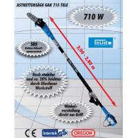 Електрическа резачка за клони GÜDE GAK 715 TELE, 710W, 2000 до 2800 mm