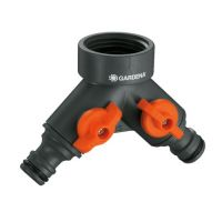 Двупътен адаптор за кран Gardena / 26.5 мм , G 3/4'' /