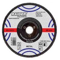Диск за шлайфане за пневматичен ъглошлайф Raider за метал / Ø 100x6.0x16 mm /