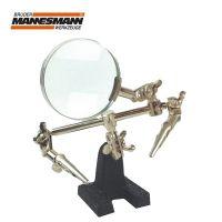 Стойка с лупа и щипки Mannesmann / лупа 2.5 x / - M 572