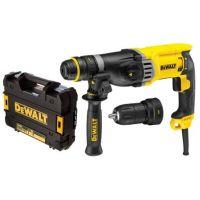 Перфоратор със SDS-Plus DeWalt D25144K / 900 W, 3J, 28мм /, LED осветление, допълнителен патронник, куфар