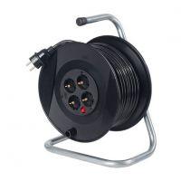 Удължител на макара с кабел Schwabe / 3х1.5, H05VV-F 25м, 4-контакта, IP20 /