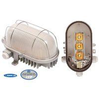 Осветително тяло овално LED Schwabe / 170х100мм, 3х4.0W, E27, IP44, бяло /