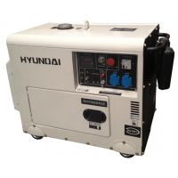 Обезшумен дизелов генератор Hyundai DHY8000 SE / 6.3 kW , ел. стартер /