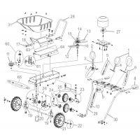 Моторна градинска количка GÜDE GMS 4 PS / 2.9 kW / 4 hp