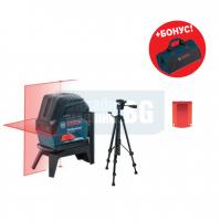 Линеен лазер Bosch GCL 2-15 /стойка RM 1 Professional+статив BT 150 Professional/
