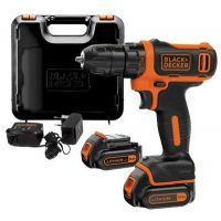 Акумулаторен винтоверт Black and Decker BDCDD12KB / 10.8 V , 1.5 Ah , 2 батерии, зарядно и куфар /