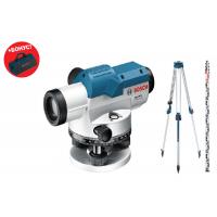 Оптичен нивелир Bosch GOL 26 G Professional + лата GR 500 и статив BT 160 /400 gon/