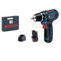 Акумулаторен винтоверт Bosch GSR 12V-15  / 12 V , 2 Ah , 2 батерии, зарядно и куфар /