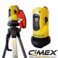 Лазерен нивелир с 1 хоризонтална и 1 вертикална линия CIMEX RL10M