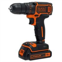 Акумулаторна бормашина Black+Decker BDCDC18K / Li-ion, 18V, 1,5Ah