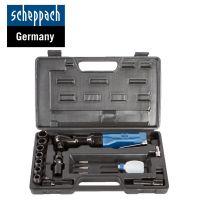 Комплект пневматична тресчотка с вложки Scheppach 7906100718 / 1/2'', 68 Nm