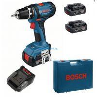 Акумулаторен винтоверт Bosch GSB 14.4-2-LI Plus / 14.4 V , 2x1.5 Ah , зарядно и куфар /