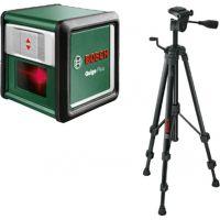 Лазерен нивелир линеен Bosch Quigo Plus с алуминиев статив / 5-7 m , Точност ± 0,8 mm/m /